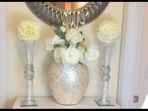Glam Vase Diy Kissing Balldollar Tree Youtube