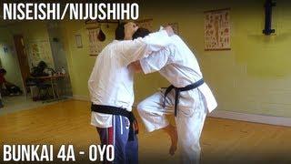 Niseishi/Nijushiho Bunkai - 4a Oyo (Hasami uke, hiza gamae, kakiwake uke)