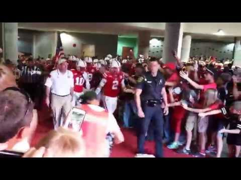Nebraska vs Miami Football Tunnel Walk 2014