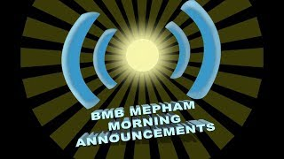 BMB Morning Announcements for Friday November 16th