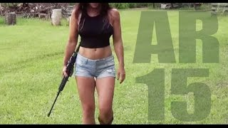 Hot body and an AR15  Farm Girl shoots and discusses her new Bushmaster!