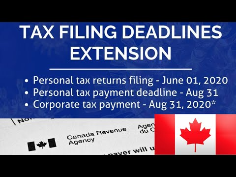 CANADA Extends TAX DEADLINES For 2020