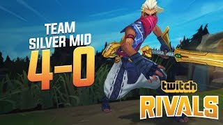 Shiphtur | TEAM SILVER MID UNDEFEATED IN TWITCH RIVALS! (4-0)