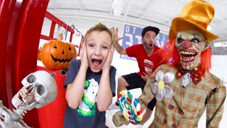 Father Son MAKE A HAUNTED SKATEPARK (Even Scarier!)
