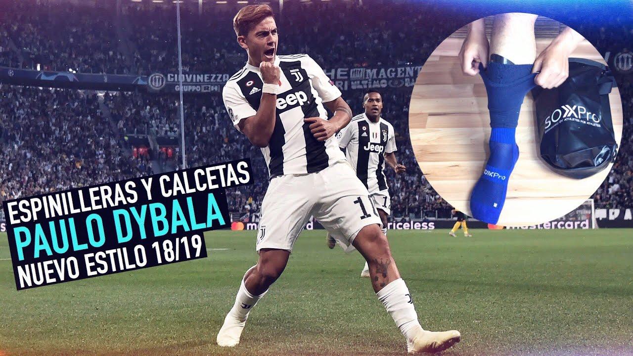 DYBALA   ESPINILLERAS Y CALCETAS   NUEVO ESTILO 18/19 🔥