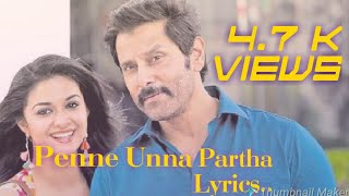 Samy-II  penne unna Partha.. lyrics ...hd..
