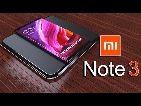 Mi Note 3 Introduction with Wrap Around Dual Edge Design, Xiaomi Flagship 2017