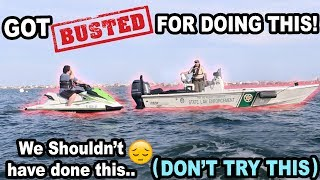 COP PULLS US OVER IN THE OCEAN!! (WHAT?!)