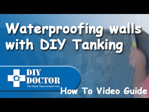 Waterproofing and damproofing walls with DIY Tanking