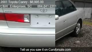 2001 Toyota Camry CE 4dr Sedan for sale in Williamston, SC 2