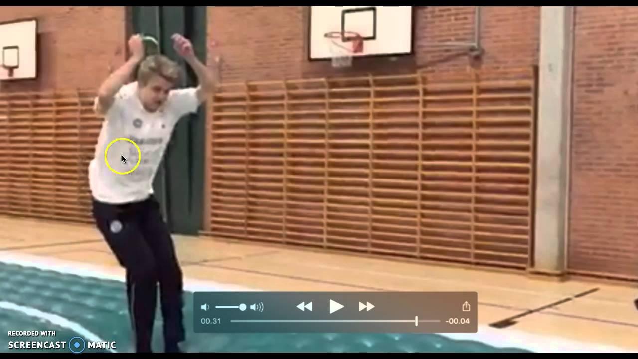 Bevægelsesanalyse af forlæns salto