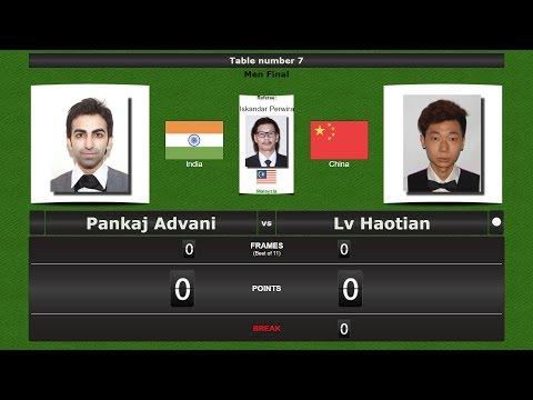 Snooker Men Final : Pankaj Advani vs Lv Haotian
