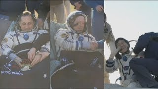 Soyuz MS-07 landing