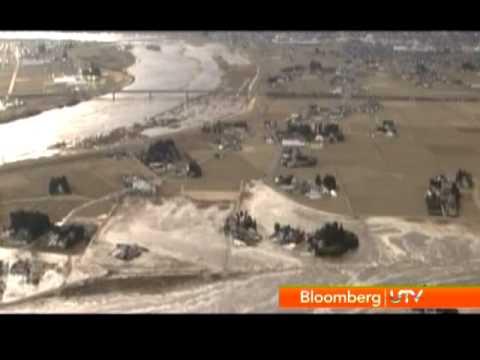 Japan Earthquake: Tsunami and Fire in Refinery