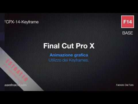 FCPX 10.2 - L14 - KEYFRAMES. ANIMAZIONE GRAFICA.