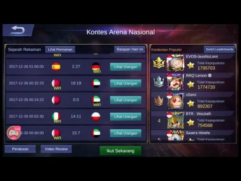 Kontes arena mobile legend, Vietnam cheater