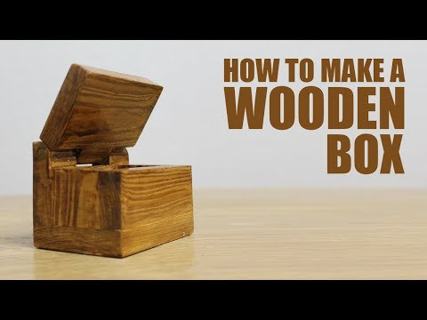 How to make a wooden box with lid - DIY Mini Box