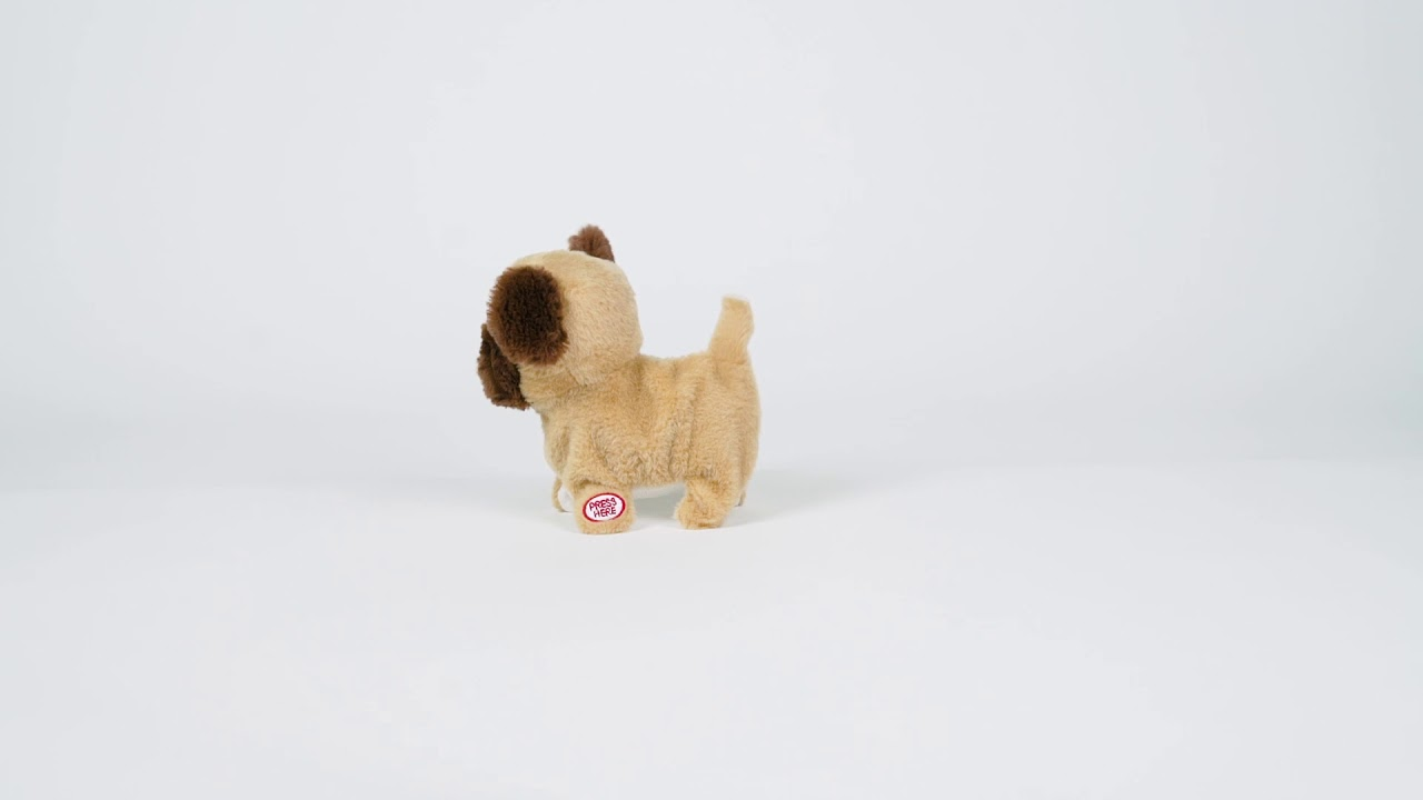 Play Zone Animated Walking Barking Pug Big Lots