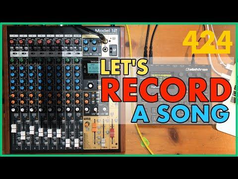 TASCAM MODEL 12 RECORDING: Multitrack Recording a Song (Pt. 1)   424recording.com