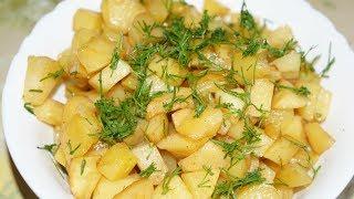 Картофель в духовке.  Вкусный, быстрый рецепт!
