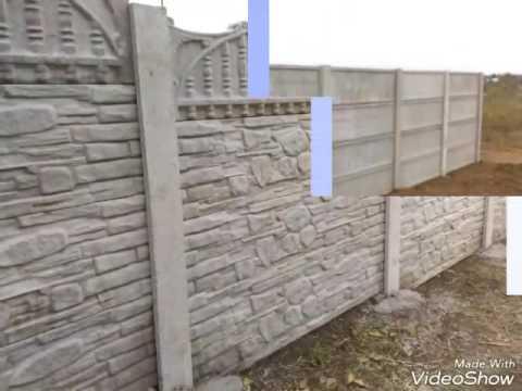gard placi beton si porti fier forjat youtube. Black Bedroom Furniture Sets. Home Design Ideas