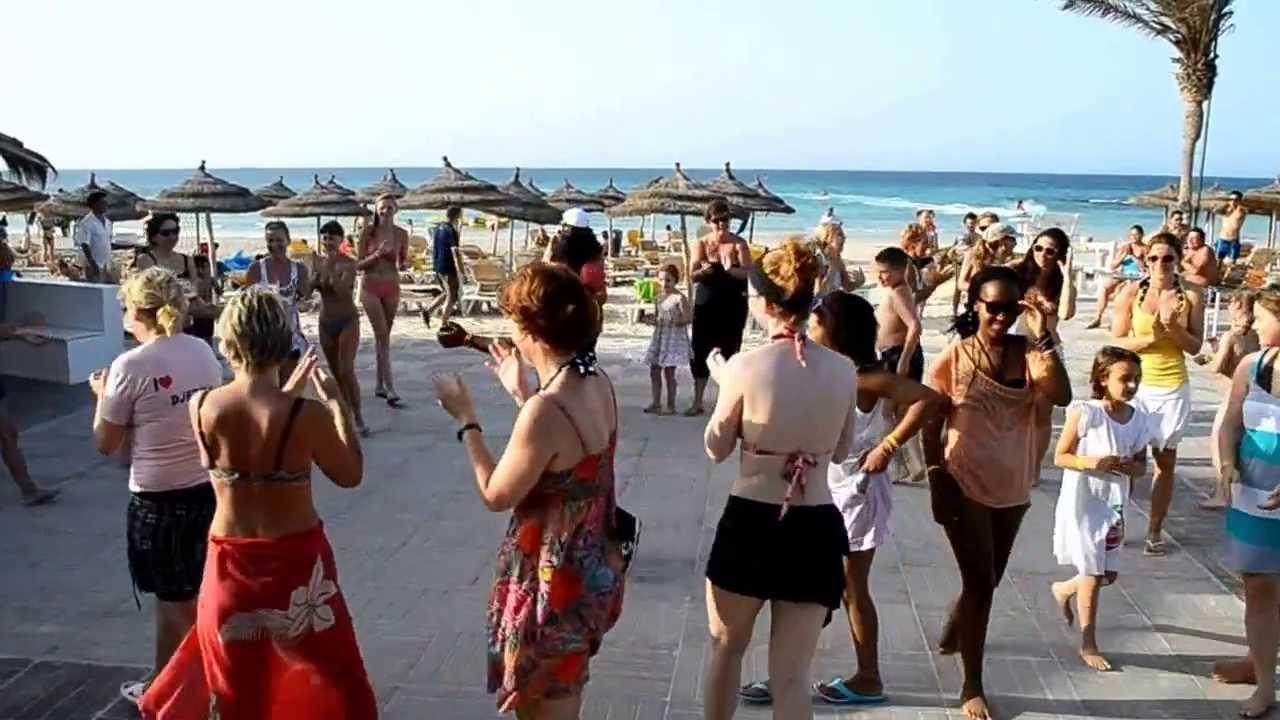 Rym Beach Djerba 2013 zumba plage YouTube