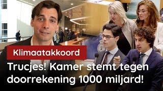 Trucjes! Kamer stemt tegen doorrekening 1000 miljard!