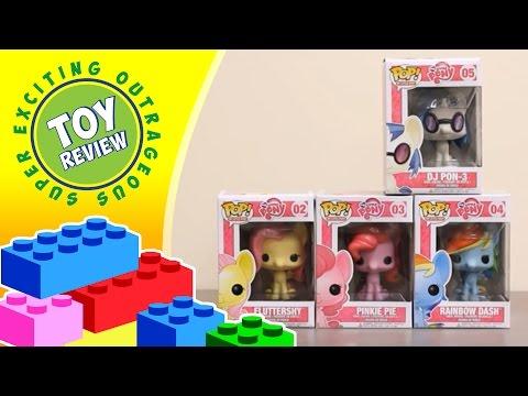 Rainbow Dash Fluttershy Pinkie Pie DJ Pon-3 My Little Pony Funko Pop - Toy Review