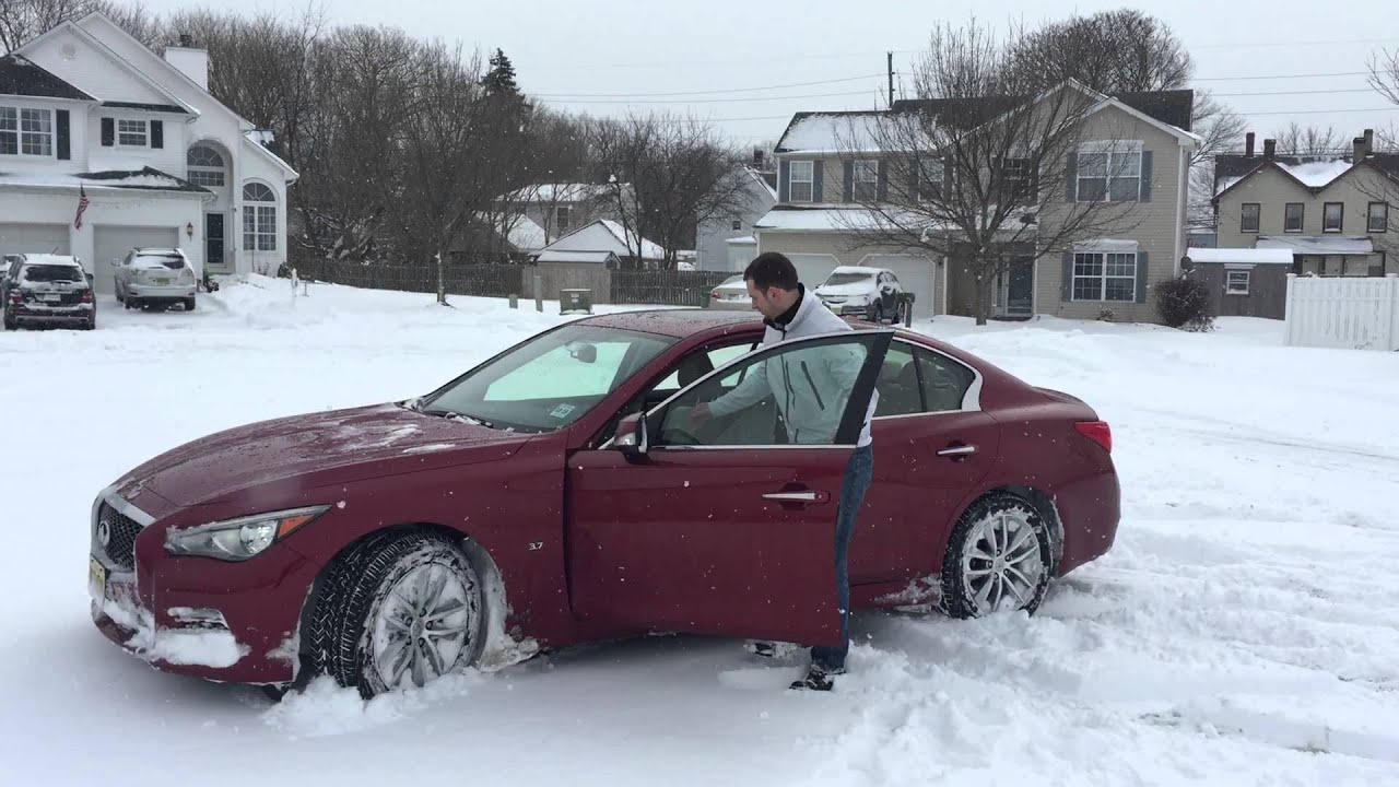 Infiniti G37 0 60 >> Review Infiniti Q50 AWD, G37 in snow - YouTube