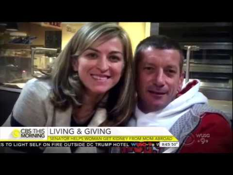 Menendez Helps Dying NJ Woman Secure Kidney Donor - CBS This Morning
