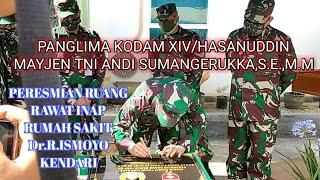 PERESMIAN RUANG RAWAT INAP RS Dr.R.ISMOYO OLEH PANGLIMA KODAM MAYJEN TNI ANDI SUMANGERUKKA,S.E,,M.M