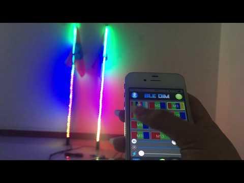 FIA LED RGB Dream color whip light Bluetooth-APP control