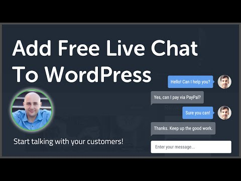How To Add Live Chat To WordPress - Best FREE Live Chat Service For Websites