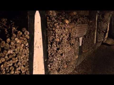 The Catacombs of Paris are underground ossuaries in Paris
