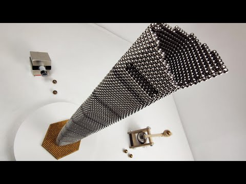 Magnetic guns VS Shanghai Tower made of magnetic balls | Magnetic Games
