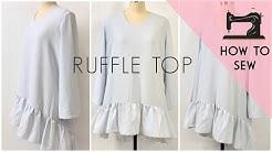 DIY Flounce Dress   Sew Ruffle Dress