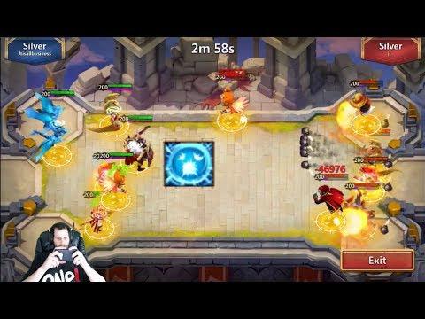 Scatter Skull Knight OWNS Squad Showdown 6 For 6 Castle Clash