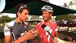 Chris McCormack & Terenzo Bozzone at the 2010 Ironman Championships