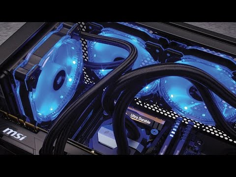Corsair Hd120 Rgb 120mm Led 3 Fan Kit With Lighting