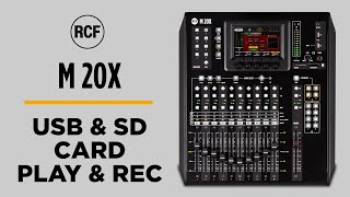 RCF M 20X DESKTOP DIGITAL MIXER - USB & SD CARD PLAY&REC