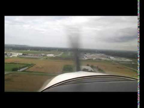 Taking off and landing at St. Louis Downtown airport.