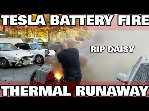 My first Tesla Battery Fire
