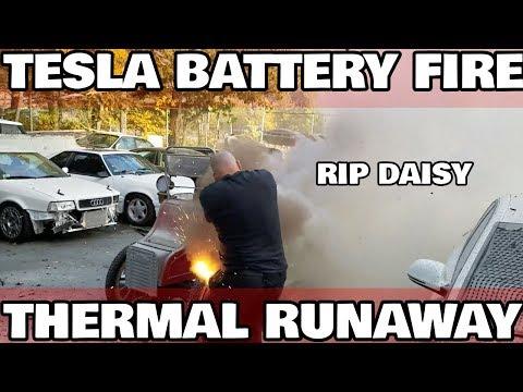 My first Tesla Battery Fire
