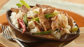 Stir-Fried Pork in Garlic Sauce