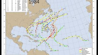 North Atlantic Hurricane Track Chart Series for 1950-2012