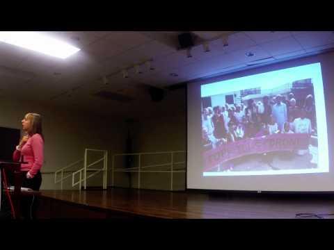 Medea Benjamin in Marquette MI - Drone Warfare - Code Pink