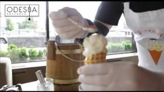Молекулярная кухня - приготовление мороженного за 5 минут в ресторане Одесса(Процесс создания десерта от европейского ресторана Одесса. Детальнее на сайте: http://odessarest.com.ua/, 2014-06-23T07:46:42.000Z)