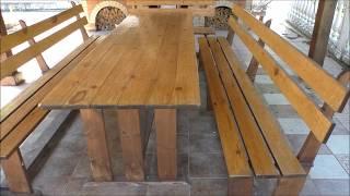 как сделать стол и скамейку своими руками