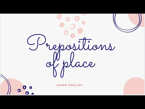 Prepositions of Location/Place