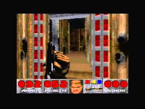 Gameplay of SNES Doom E3 part 2 E3M4 to E3M5 Travel Video
